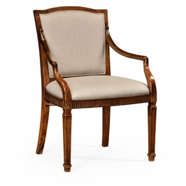 492886 Jonathan Charles Special Order Upholstered Chair With Classical Form (Arm)