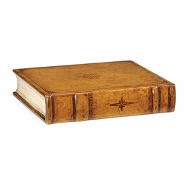 492896-L001 Jonathan Charles Buckingham Leather Faux Book Box