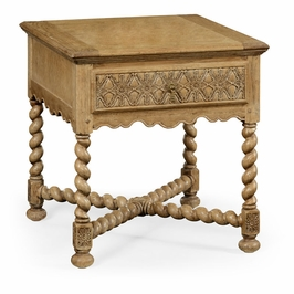 493125-LNO Jonathan Charles Sherwood Oak Natural Oak Square Side Table