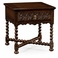 493125-TDO Jonathan Charles Sherwood Oak Dark Oak Square Side Table