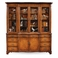 493126-CWM Jonathan Charles Buckingham Walnut Glazed China Cabinet Serpentine Architrave