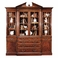 493156-MAH Jonathan Charles Buckingham Mahogany Glazed Triple Display Cabinet Drawers To Base
