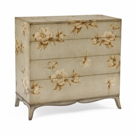 493163 Jonathan Charles Country Farmhouse Large Painted Floral Chest