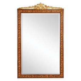 493251-WAL Jonathan Charles Versailles Louis Xvi Style Inlaid & Gilded Rectangular Mirror