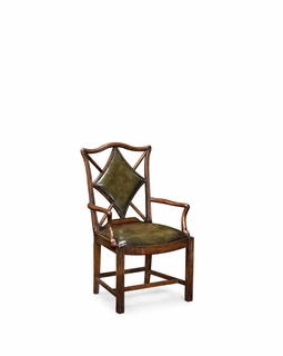 "493259 Jonathan Charles Windsor Playing Card ""Diamond"" Chair (Arm)"