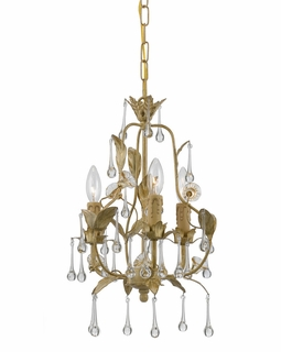 4933-CM Crystorama Hot Deal Wrought Iron Mini-Chandelier In Champagne