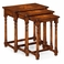 493429-COS Jonathan Charles Casual JC Edited - Huntingdon Collection Nest Of Three Walnut Oyster Tables