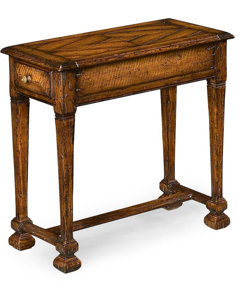 493446 jonathan charles huntingdon narrow figured walnut for Narrow side table