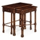 493484-DCW Jonathan Charles Traditional Tribeca Collection Chippendale Gothic Style Nesting Tables