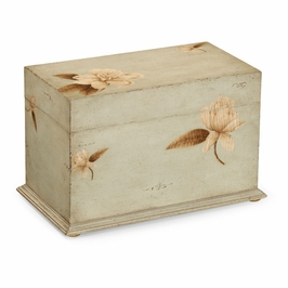493512 Jonathan Charles Country Farmhouse Painted Floral Rectangular Box