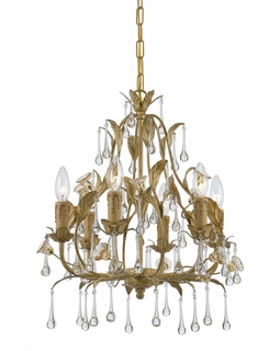 4936-CM Crystorama Hot Deal Wrought Iron Chandelier In Champagne