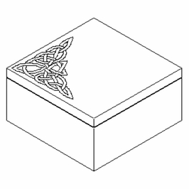 493785 Jonathan Charles Dunes Raised Celtic Veneer Square Box