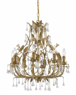 4938-CM Crystorama Hot Deal Wrought Iron Chandelier In Champagne