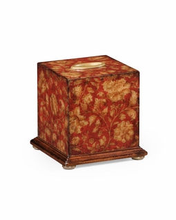 493966 Jonathan Charles Hampton Chinoiserie Tissue Box (Red)