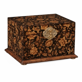493987-PBF Jonathan Charles Hampton Chinoiserie Lidded Jewelry Box (Black)