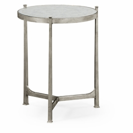 494080-S-GES JC Modern Lux Aglomise & Silver Iron Lamp Table (Medium)