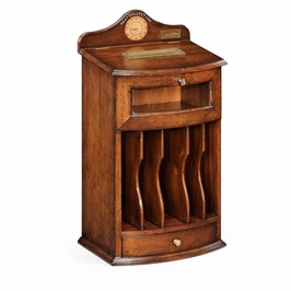 "494274-WAL Jonathan Charles Country Farmhouse Walnut Desk ""Post Box"""