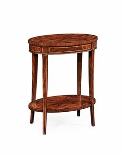 494288 Jonathan Charles Luxe Mahogany Oval Lamp Table