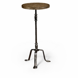 494344-BBL Jonathan Charles Casual JC Edited - Anvil Collection Textured Brass & Iron Lamp Table