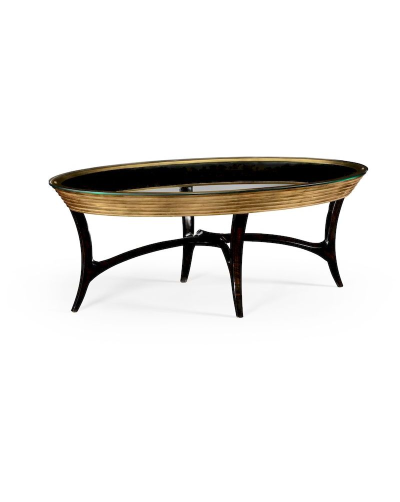 494518 Jonathan Charles Luxe Stepped Gilt Coffee Table