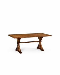494525 Jonathan Charles Huntingdon Medium Solid Walnut Topped Dining Table