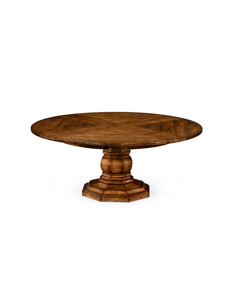 494544 jonathan charles country farmhouse solid walnut circular