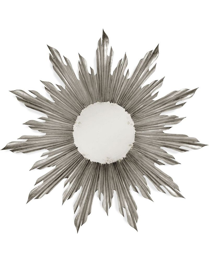 494613 jonathan charles versailles small silver sunburst for Small silver mirror