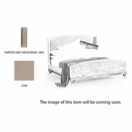 494720-USK-PGW-FCOM Jonathan Charles Versailles Us King Louis Xv Bed (Grey Weathered/Com)