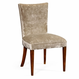 494808-SC-MAH-F005 Jonathan Charles Buckingham Biedermeier Style Mahogany Dining Side Chair (Calico)