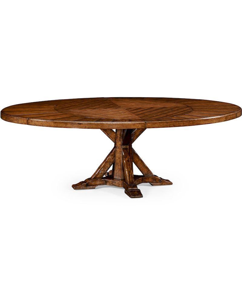 494849 jonathan charles huntingdon heavy distressed for Distressed round dining table