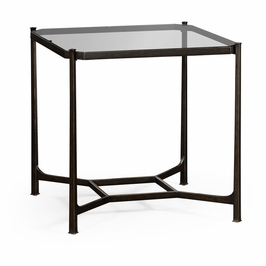 494921-B JC Modern Lux Patinated Bronze Finish Square Side Table