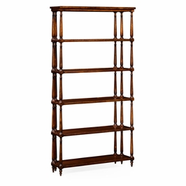 495021-WAL Jonathan Charles Traditional Country Farmhouse Collection Five Tieretagerewith Triple Column Supports