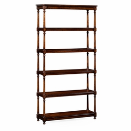 495022-WAL Jonathan Charles Traditional Country Farmhouse Collection Five Tieretagerewith Double Column Supports