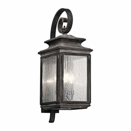 49503WZC Kichler Fixtures Traditional Weathered Zinc Outdoor Wall 4Lt