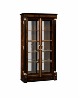 495063 Jonathan Charles Knightsbridge Mahogany Regency Style Bookcase With Columns with Antique Mahogany Brown - Nc High Lustre On Veneer Finish