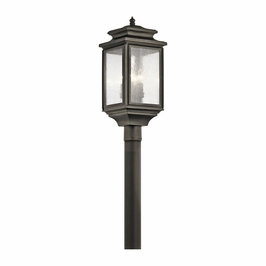 49506OZ Kichler Fixtures Traditional Olde Bronze Outdoor Post Mt 4Lt
