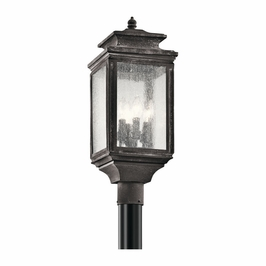 49506WZC Kichler Fixtures Traditional Weathered Zinc Outdoor Post Mt 4Lt