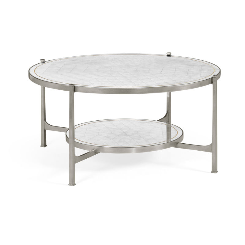Excellent 495073 S Jonathan Charles Contemporary Modern Jc Modern Luxe Collection Eglomise Glass Silver Coffee Table Machost Co Dining Chair Design Ideas Machostcouk