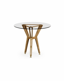 "495089 Jonathan Charles Architects House Architectural 36"" Circular Centre Table with Light Washed Oak On Wood Finish"