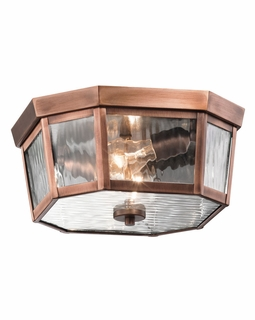 49518ACO Kichler Rochdale Outdoor Ceiling 2Lt Flush and Semi Flush Mt