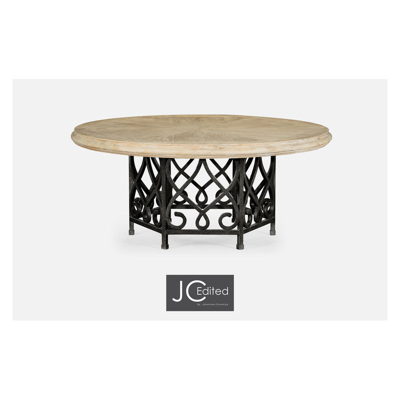 495198 72d Lma Jc Edited 72 Limed Wood Dining Table With Wrought
