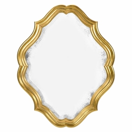 495323-GIL Jonathan Charles Traditional Moroccan Collection Oval Antique Mirror (Gilded)