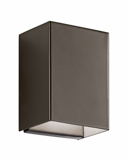 49550AZLED Kichler Fixtures Contemporary Architectural Bronze Indoor/Outdoor Wall 1Lt LED