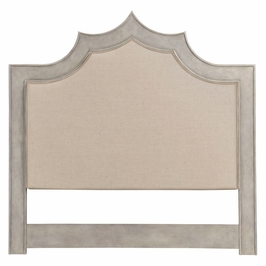 495521-USQ-PGR-F001 JC Modern Indochine Pebble Grey Headboard, Us Queen