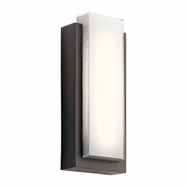 49557AZLED Kichler Fixtures Soft Contemporary Architectural Bronze Outdoor Wall 2Lt LED