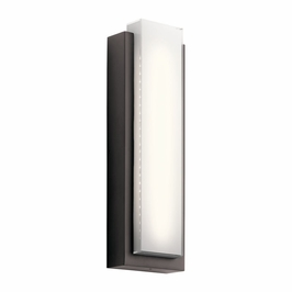 49558AZLED Kichler Fixtures Soft Contemporary Architectural Bronze Outdoor Wall 2Lt LED