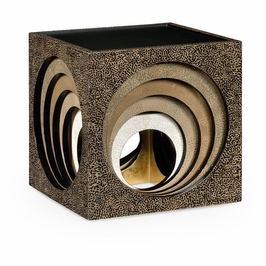 495636-EA001 Jonathan Charles Contemporary/Modern JC Modern - Indochine Collection Eggshell Cube Nesting Tables