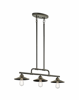 49588OZ Kichler Transitional Westington Indoor/Outdoor Chandelier 3Lt (olde bronze)