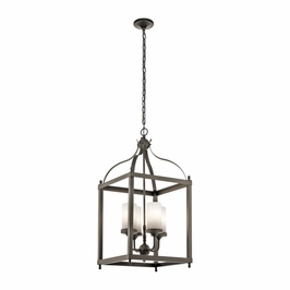 49590OZ Kichler Fixtures Traditional Olde Bronze Outdoor Pendant 4Lt
