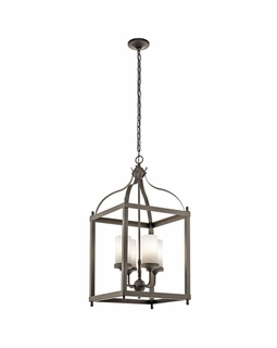49590OZ Kichler Traditional Larkin Outdoor Pendant 4Lt (olde bronze)